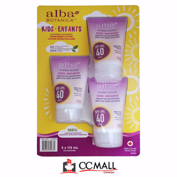 Picture of  Alba Botanica Kids Sunscreen Lotion 3*113mL Spf-Fps 40