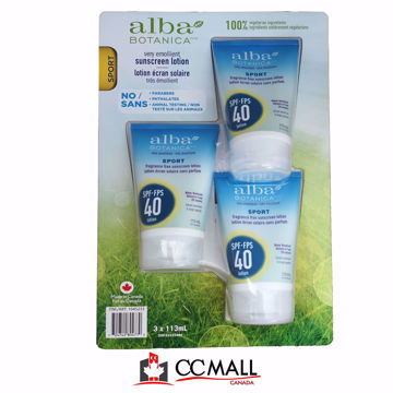 Picture of Alba Botanica Suncreen Lotion(sport) 3*113mL Spf-Fps 40