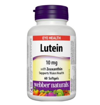 Picture of Webber Naturals Lutein 10mg 60Softgels