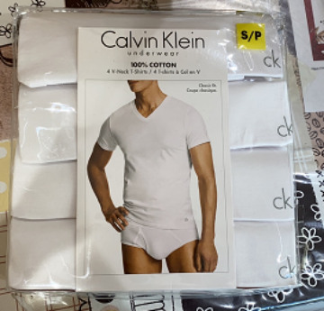 Picture of Calvin Klein V-Neck T-Shirts 4 Packs Sizes S