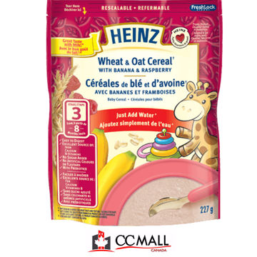 Picture of Heinz Wheat & Oat Cereal with Banana & Raspberry STAGE 3 , 227g