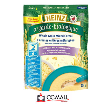 Picture of Heinz Baby  Organic Whole Grain Oatmeal Cereal -STAGE 2 ( No Milk), 227g