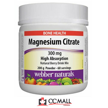 Picture of Webber Naturals Magnesium Citrate 300mg Powder, 200g