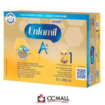 Picture of Enfamil A+ 1 Infant Formula, Concentrated Liquid Cans, (0-12months) 12x385mL
