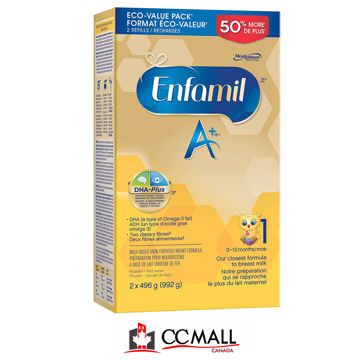 Picture of Enfamil A+ 1 Infant Formula, Powder Refill (0~12Months) 2x496g