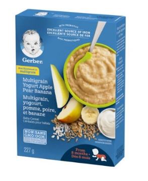 Picture of GERBER Stage 3 Multigrain Yogurt Apple Pear Banana Baby Cereal