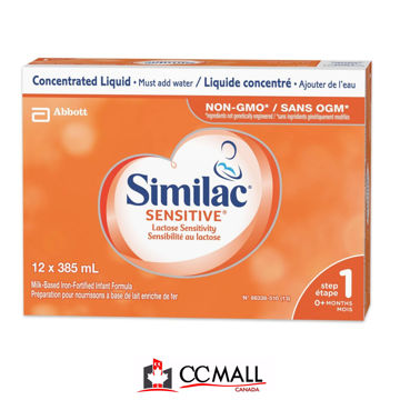 Picture of Similac Sensitive Lactose Sensitivity Liquid Baby Formula (0+  Months) -12x385 mL