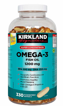 Picture of Kirkland Signature  Omega 3 Fish Oil 1200mg  330 Softgels