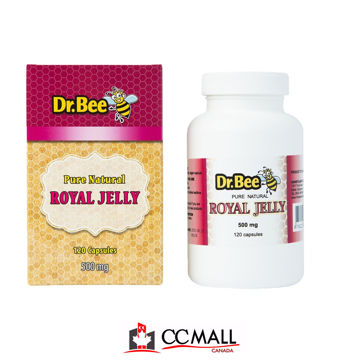 Picture of Dr Bee Royal Jelly Capsules (Made in Canada) -120 Capsules