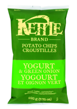 Picture of KETTLE CHIPS 220g  Yogurt & Green Onion