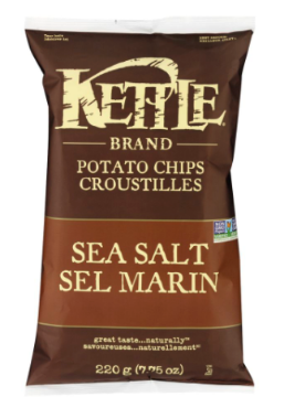 Picture of KETTLE CHIPS 220g  Sea Salt