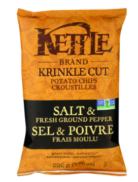 Picture of KETTLE CHIPS 220g  Salt & Pepper