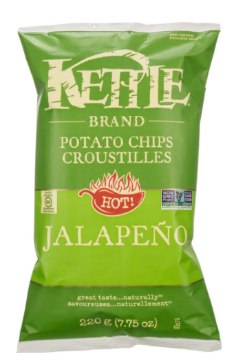 Picture of KETTLE CHIPS 220g Pepperoncini