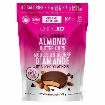 Picture of Chocxo Organic Dark Chocolate Almond Butter Cups, 420 g