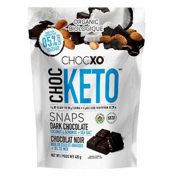 Picture of ChocXO Dark Chocolate Coconut and Almond Keto Snaps, 420 g