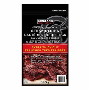 Picture of Kirkland Signature Extra Thick Steak Strips, 340 g