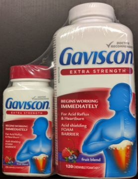 Picture of  Gaviscon Extra Strength 120 Pack + BONUS 25 Tablet Travel Pack