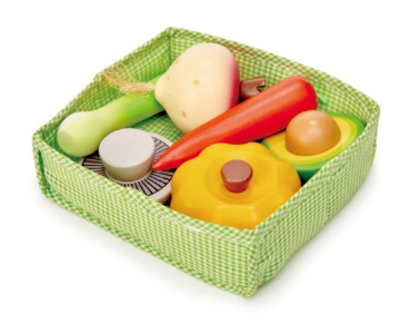 Picture of Tender Leaf  Toys Veggie Crate  3 years +