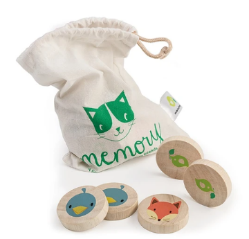Picture of Tender Leaf  Toys Clever Cat Memory Game 18 months+