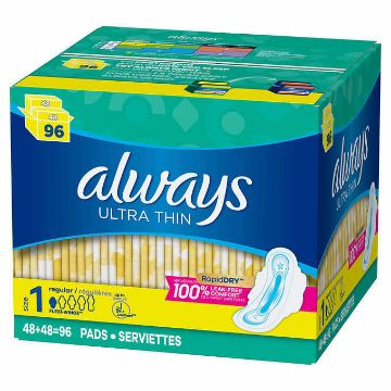 Picture of Always Ultra Thin Pads Regular 96CT