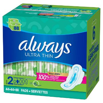 Picture of Always Ultra Thin Pads Super 88CT