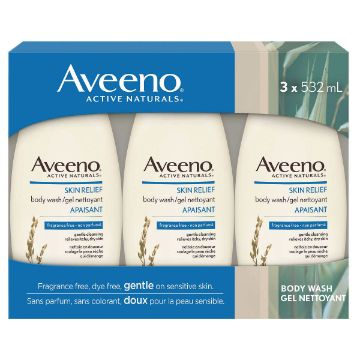 Picture of Aveeno Skin Relief Body Wash 532 mL x3packs