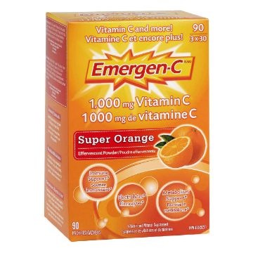 Picture of Emergen-C Orange Vitamin C 1000mg 90packets