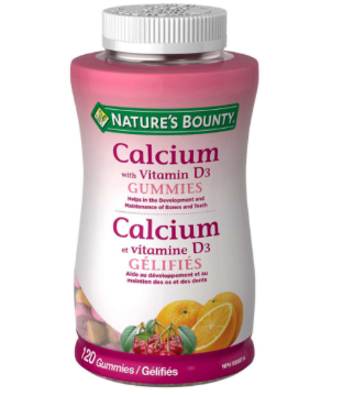 Picture of Nature's Bounty Calcium with Vitamin D3 Gummies- 120 Gummies