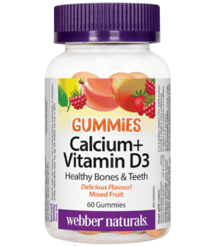 Picture of Webber Naturals-Calcium + Vitamin D3 Gummies Mixed Fruit,60 Gummies