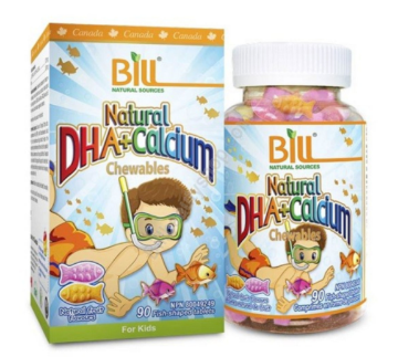 Picture of Bill Natural Sources Natural DHA+Calcium Chewable -90 Tablets