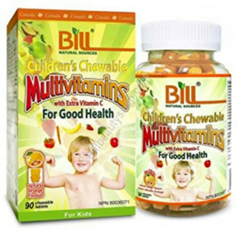 Picture of Bill Natural Sources Children's Chewable Multivitamins with Extra Vitamin C - 90 Tablets