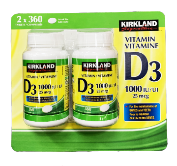 Picture of Kirkland Signature VITAMIN D3 1000IU/UI 25mcg