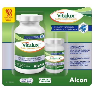 Picture of Vitalux Healthy Eyes Ocular Multivitamin 180 Coated Tablets
