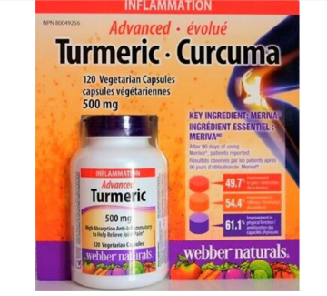 Picture of Webber Naturals Advanced Turmeric 500mg -120 Capsules