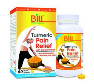 Picture of Bill Natural Sources Pain Relief With Turmeric -60 Tablets