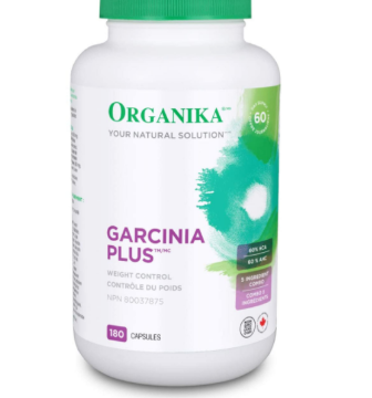 Picture of Organika Garcinia Plus (Garcinia Fruit Extract Providing 60% HCA)- 180 Capsules
