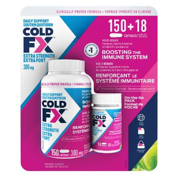 Picture of COLD-FX Extra Strength 300 mg - 150 + 18 capsules