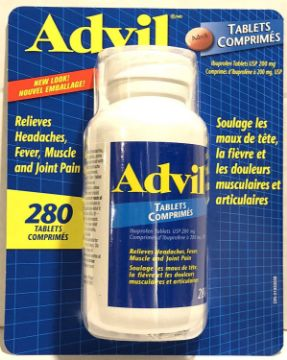 Picture of Advil Tablets (280 Count) 200 mg Ibuprofen, Relieves Headaches, Fever, Muscle and Joint Pain