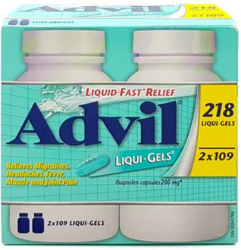 Picture of Advil Ibuprofen 200 Mg, 2 X 109 liquigels, 218 Count