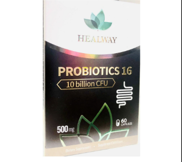 Picture of Healway Probiotics 16 , 500mg ( 10 Billion CFU ) - 60 Capsules