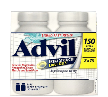 Picture of Advil Extra Strength Liqui-Gels 400 mg 2 x 75 Softgels