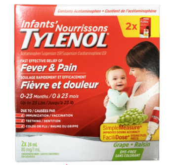 Picture of Tylenol Infant Drops 2 x 24mL