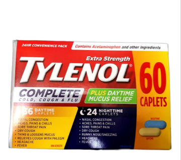 Picture of Tylenol Complete Extra Strength 60 Caplets