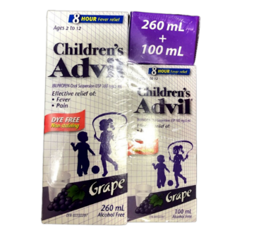 Picture of Children Advil 260mL + 100mL