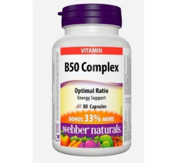 Picture of Webber Naturals Vitamin B50 Complex Easy Swallow 80 Capsule, 50mg
