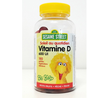 Picture of Webber Naturals Vitamin D3 600 IU Mixed Berry • Peach • Strawberry  180 Gummies