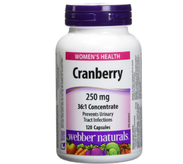 Picture of Webber Naturals Cranberry Fruit 36:1Concentrate 250mg - 120Capsules