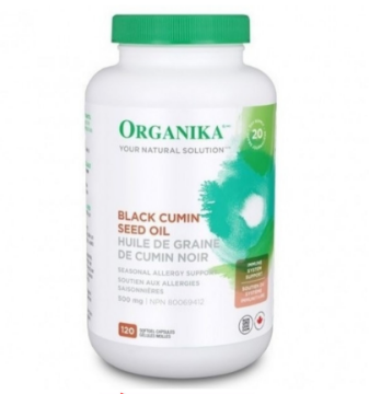 Picture of Organika Black Cumin Seed Oil 500mg - 120 sftgels