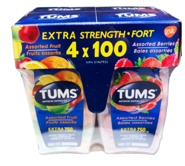 Picture of TUMS Extra Strength Fort Assorted Fruit 4*100