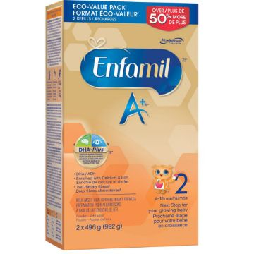 Picture of 【特价奶粉包邮】Enfamil A+ 2 Infant Formula, Powder Refill,(6~18Month) 2x496g